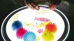 #HopToys La #tablelumineuse #tablelight : des idées d'#activités ludiques ! Si vous aussi, vous avez des idées d'utilisation avec le table lumineuse n'hésitez pas à partager vos photos avec le #HopToysCommuanuté.