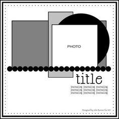 Simple Scrapbook Layout sketch by Julie Bonner for SEI Scrapbook Layout Sketches, 12x12 Scrapbook, Wedding Scrapbook, Card Sketches, Scrapbook Paper Crafts, Scrapbook Albums, Scrapbooking Layouts, Digital Scrapbooking, Scrapbook Photos