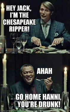 Image via We Heart It https://weheartit.com/entry/110974079/via/1984519 #dinner #funny #hannibal #madsmikkelsen