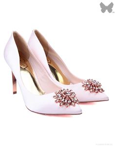 Ted Baker Ladies' Annabilla Broach Trim Court Shoe – Nude - Clearance   Country Attire