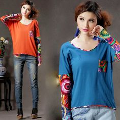 Colorful Patchwork T-shirt $39.99 (30,13 €)