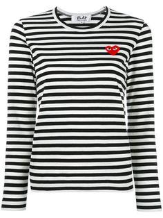 Shoppen Comme Des Garçons Play Gestreiftes Sweatshirt.