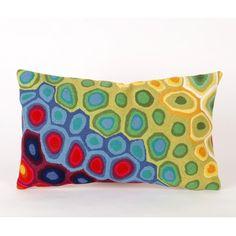 Liora Manne Pop Swirl Rectangle Indoor/Outdoor Pillow in Multi