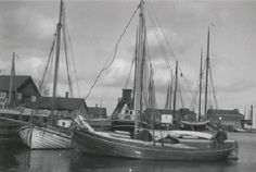 Drivkvaser ved F. Mortensens bådeværft i Fakse Ladeplads. Kilde: M/S Museet for Søfart.
