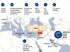 MAP OF THE DAY: Here's A Look At The US, British, French, And NATO Forces Surrounding Syria