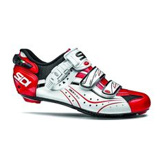 Buy your Sidi Genius Carbon Vernice Road Cycling Shoes at Merlin. Road Cycling Shoes, Cycling Gear, Cycling Outfit, Merlin Cycles, Best Looking Shoes, Performance Cycle, Bike Shoes, Black White Red, Velcro Straps