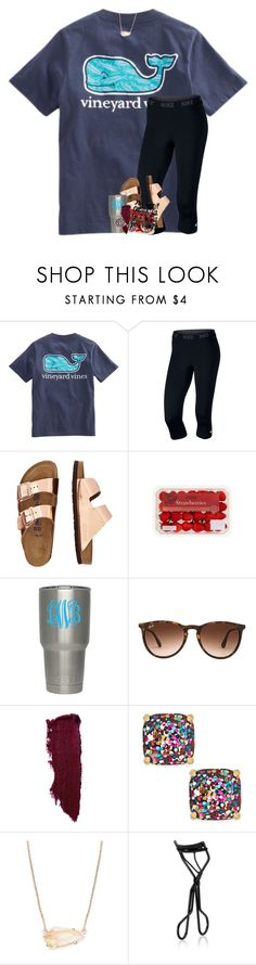 """i want to be able to call you mine"" by theblonde07 ❤ liked on Polyvore featuring NIKE, TravelSmith, Ray-Ban, Kate Spade, Kendra Scott and NARS Cosmetics"