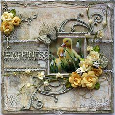 Happiness is.... **The Scrapbook Diaries Kit Page & Video Tutorial** - Scrapbook.com