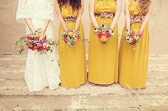 Mustard #Bridesmaids dresses I bows and arrows I See more @WeddingWire I http://www.weddingwire.com/biz/bows-and-arrows-dallas/portfolio/3c9776279a5a3fe1.html?page=1&subtab=album&albumId=a9728c9763e363d8#vendor-storefront-content