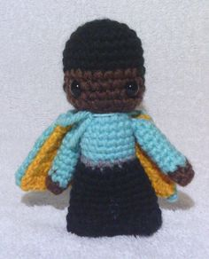 Lando - Star Wars Mini Amigurumi -   Based off of Pattern by Lucy Ravenscar