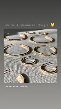 Excited to share this item from my #etsy shop: Manuela Hoops Precious Metals, Hoop Earrings, Rose Gold, Etsy Shop, Jewellery, Sterling Silver, Jewels, Schmuck, Jewelry Shop