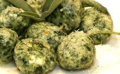 Spinach dumplings ...