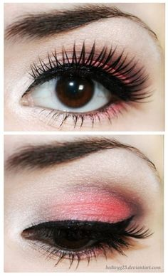 How to wear Red eye shadow... Perfect ♥