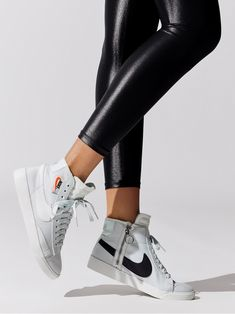 Pin on ➕ sneakerhead Women's Blazer Mid Rebel in Ghost Aqua/summit White-pale Ivory-desertore by Nike from Nike Blazers Outfit, Cute Shoes, Me Too Shoes, Rebel Outfit, White Nike Shoes, Nike High Tops, Aesthetic Shoes, Fresh Shoes, Workout Accessories