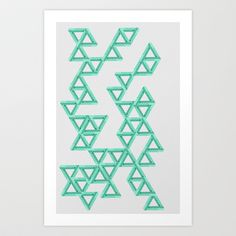 Triangles Art Print by Tyler.nu Design - $18.00