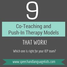 Are you struggling to know the best way to do push-in therapy or co-teach? Here are the top 9 models for co-teaching and push-in therapy for speech therapists and other professionals. Watch the video for explanations and click the button below to download the handout with all 9 models (with examples) so you [...]