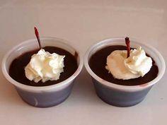 Chocolate Covered Cherry jello shots! Creme de cocoa and black cherry jello.