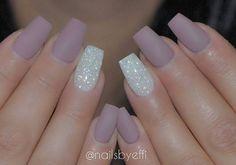 Matte Mauvey Purple and White Diamond: