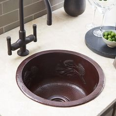 unusual kitchen sinks corner bring the outdoors in with this gorgeous hand hammered copper bar sink its lovely 46 best cool kitchen sinks images on pinterest kitchens