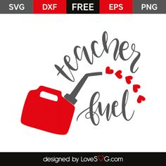 *** FREE SVG CUT FILE for Cricut, Silhouette and more *** Teacher fuel