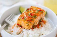 Mmm, mmm, good is how we're feeling about this Sweet Chili Salmon recipe. It's a quick and easy dinner option to change it up a bit. Oh and it's healthy too!