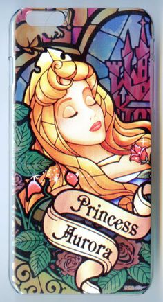 Hard Stained Glass Style Case for iPhone 6 Plus Disney Princess Sleeping Beauty