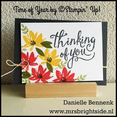 Time of year and Avant Garden stamp sets by Stampin' Up!