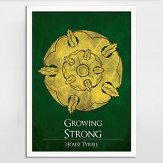Game of Thrones Art Print Poster - House Tyrell