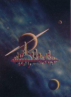 Morris Scott Dollens space art sci-fi