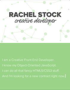 ~ rachel stock ~ creative developer ~