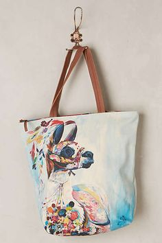 Anthropologie - Adorned Llama Tote