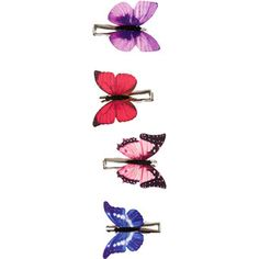 Accessorize 4 x Butterfly Clips