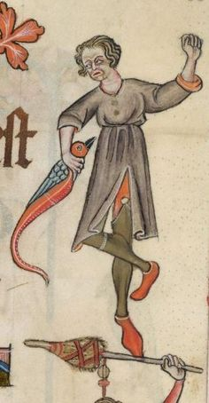 Lutrell Psalter, garter