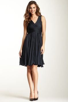 Halston Heritage Faux Wrap Dress