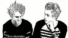 """oh my god, stop crying"" ""I'm sorry"" in which Michael is a crybaby with daddy issues and Luke hates it."