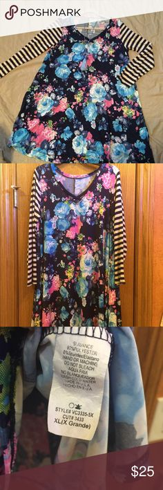 Boutique floral tunic EUC Boutique floral tunic EUC. Worn once. Hung to dry. Looks great with leggings or can be worn as a dress. Tops Tunics