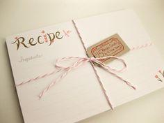pretty recipe cards
