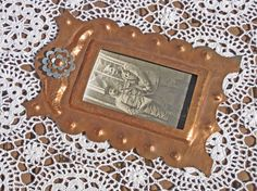 Copper photo frame French trench art WW1 by Histoires on Etsy