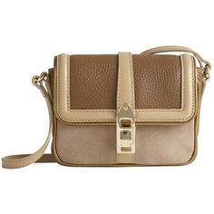 Burberry Metallic Detail Colour Block Crossbody Bag