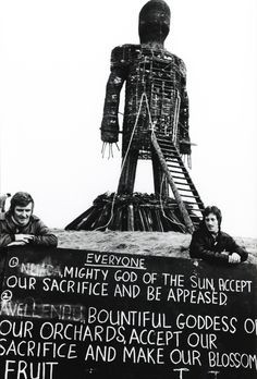 1973: Giant Cue Card used in the Wicker Man film