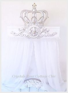 Gold Fleur De Lis Bed Crown Canopy Set Color Choices for Paint and Bling Princess Bed Decor Nursery Romantic Home Decor French Decor | Bed crown canopy and ... & Gold Fleur De Lis Bed Crown Canopy Set Color Choices for Paint and ...