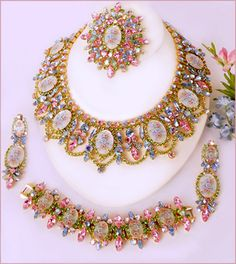 Photo 56 of DiMartino Originals™ Full Jewelry Sets Indian Jewelry Earrings, Indian Jewelry Sets, Indian Wedding Jewelry, Bridal Jewelry, Beaded Jewelry, Jewelery, Rhinestone Jewelry, Stylish Jewelry, Fashion Jewelry