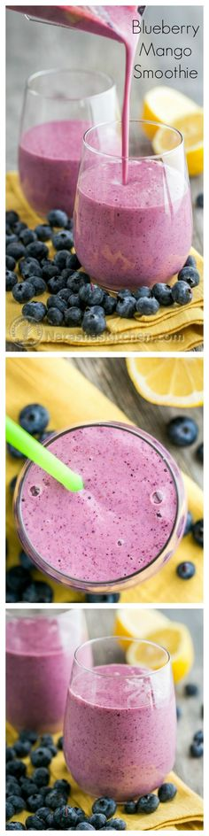 Blueberry Mango Smoothie - It's the best way to get natural energy!