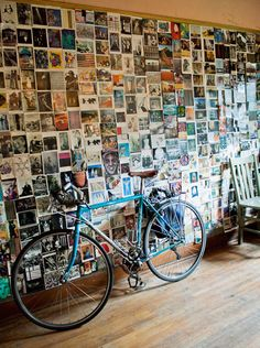 Photo wall, cool idea instead of wall paper