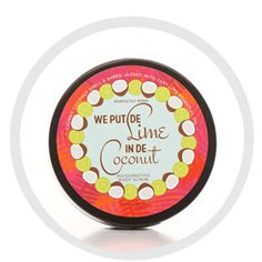 We Put De Lime in De Coconut Yummy smelling sea salt body scrub will have you smelling like a tropical get away!