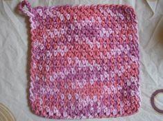 Mesh Wash Rag - Meladora's Crochet Tutorials practice the crab stitch edging