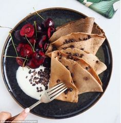 One of Roz's favourite blender recipes is skinny crepes (pictured)...