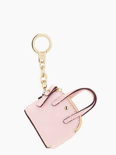 Maise keyfob rosy dawn pink handbag keychain kate spade new Car Accessories For Girls, Fashion Accessories, Fashion Bags, Fashion Trends, Kate Spade Maise, Kate Spade Outlet, Minis, Pink Handbags, Ladies Handbags