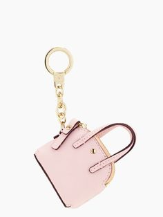maise keyfob | rosy dawn pink | handbag keychain | Kate Spade New York