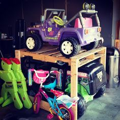 power wheels space saving storage i got tired of the on garage organization ideas that will save you space keeping things simple id=83457